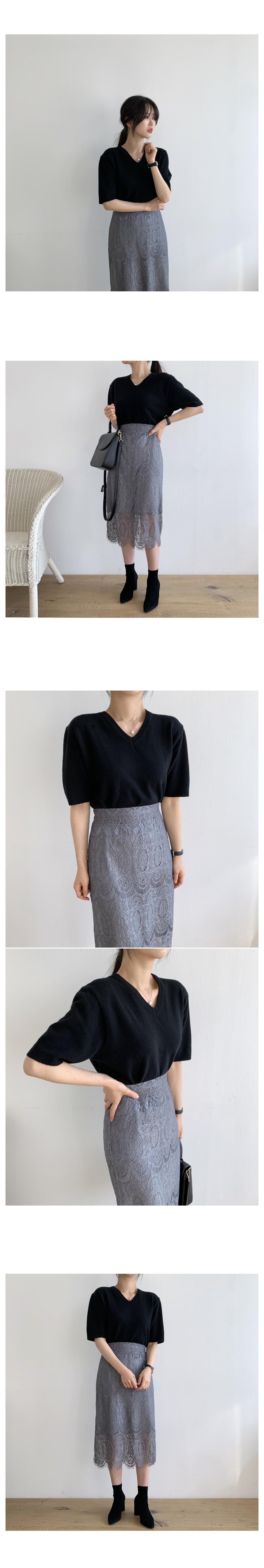 Hera race long skirt