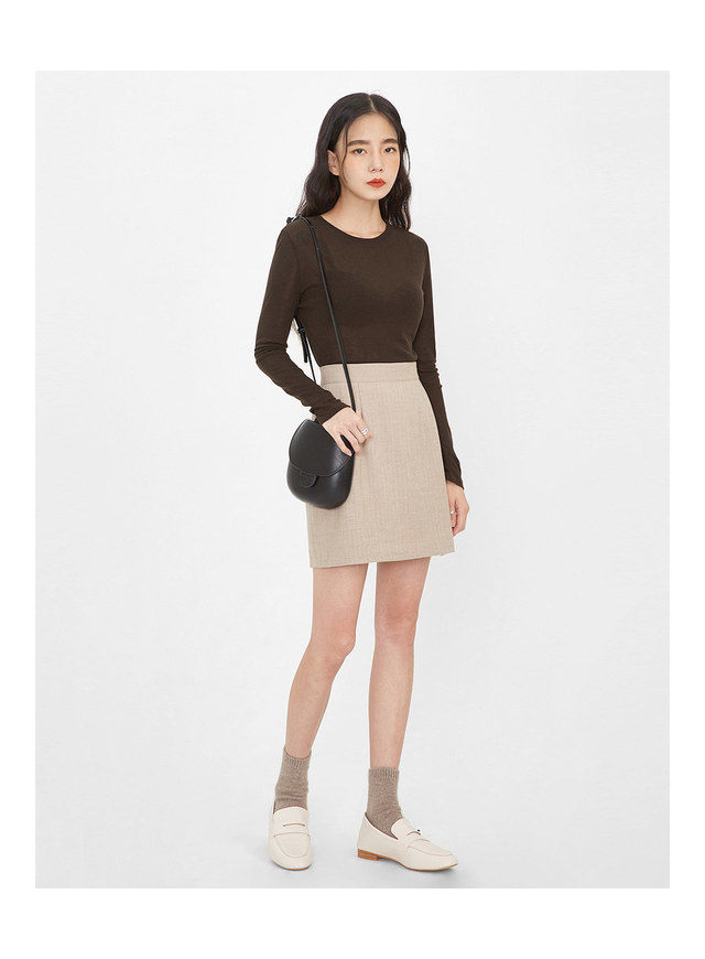 salon de herringbone skirt (s, m)