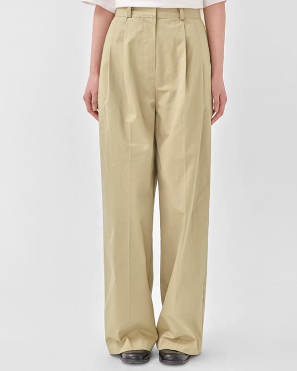 rustle cotton wide pants (s, m)