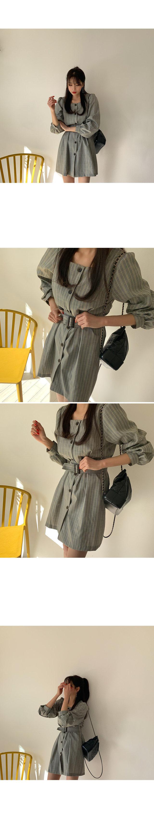 AdSquare Check Dress