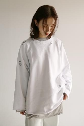 kitsch cut-off sweatshirt