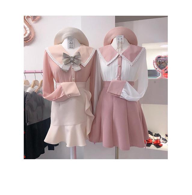 Order congestion ❤️ yuna fingertip kara blouse