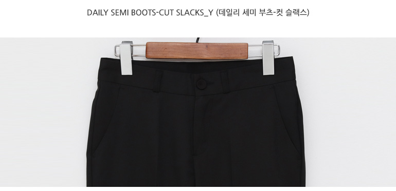 Daily semi boots-cut slacks_Y