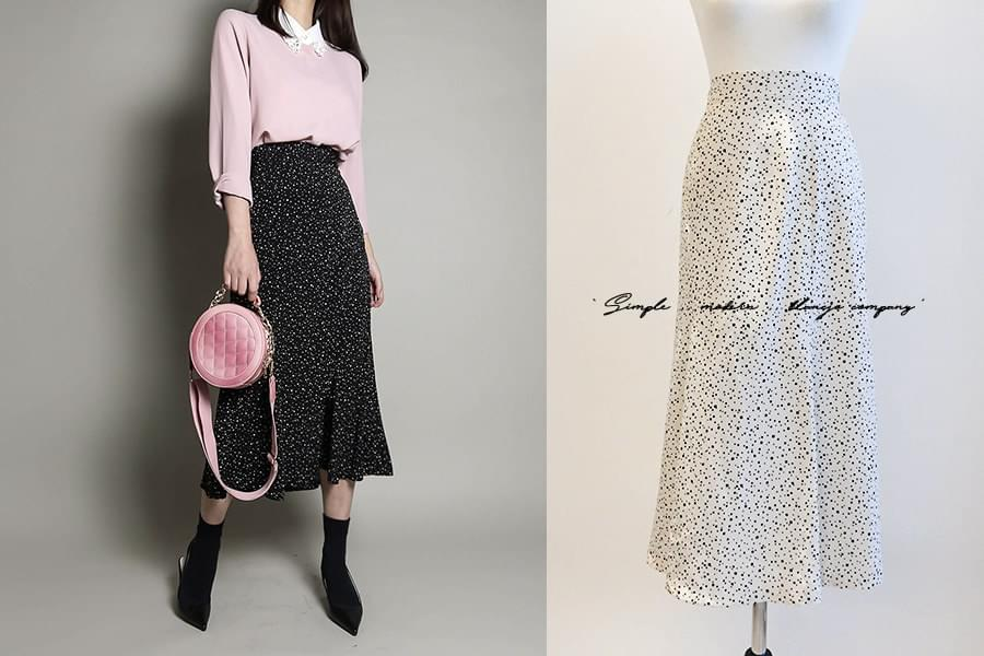 Dot Midi Bellain Skirt _SK02966