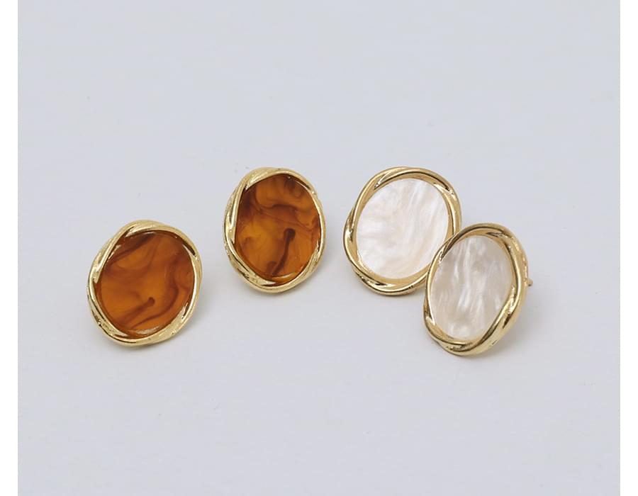 Mood marble earring_S
