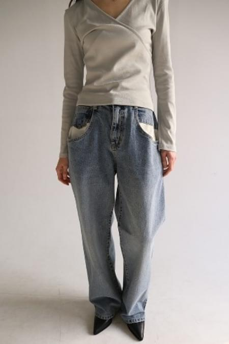 combi pocket denim pants