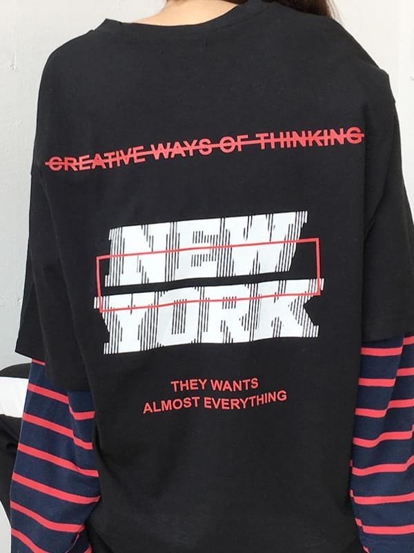 New York box short sleeve tee