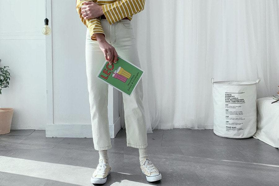 Stitch Alein cotton pants