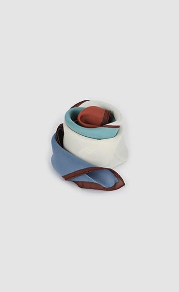 Mosaic check scarf