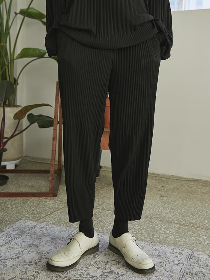 wrinkle banding pants (2 color) - UNISEX