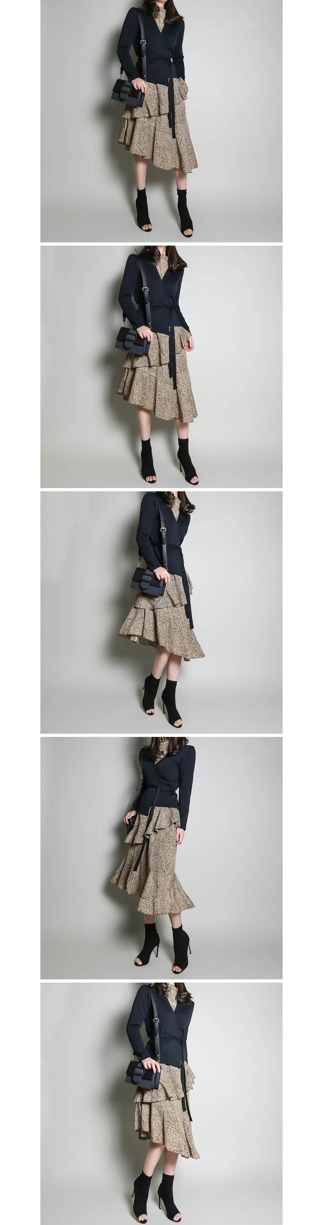 Dot print unblocked cane dress _op02971