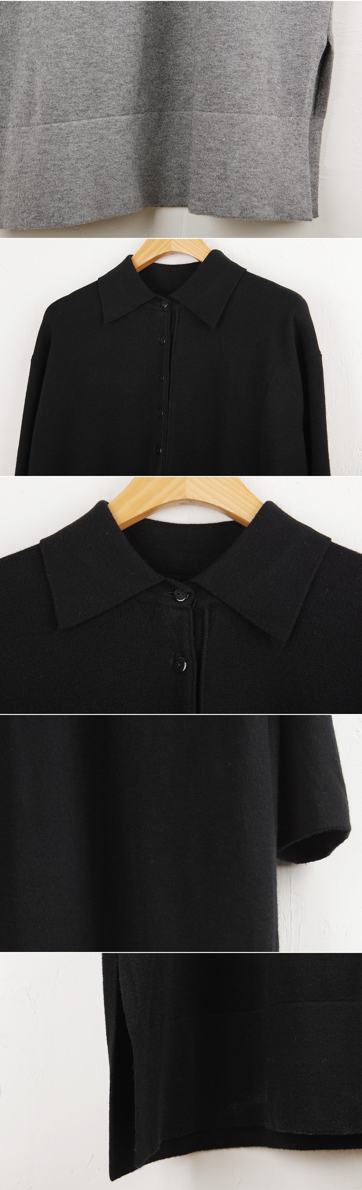 Button collar dress