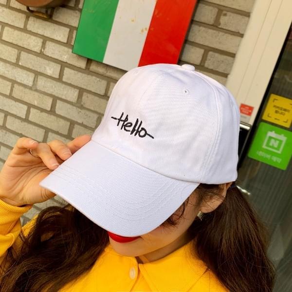 Simple hello ball cap
