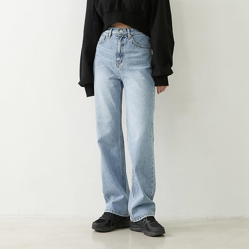Line Nem denim wide pants