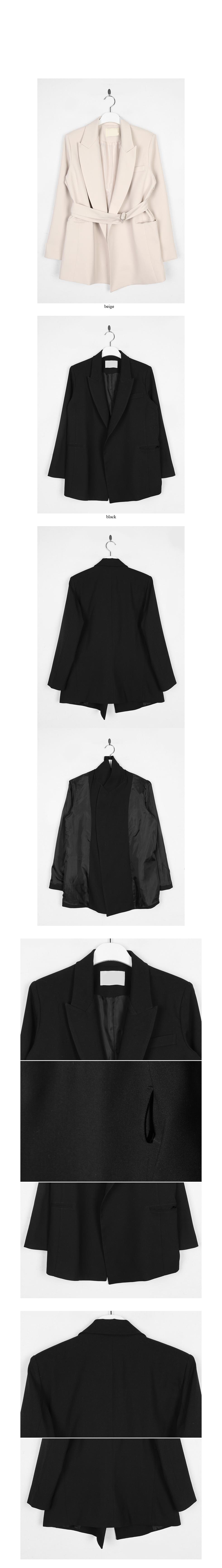 non-button strap jacket