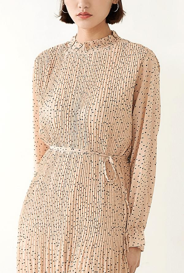 Rune Pleated Long Dress