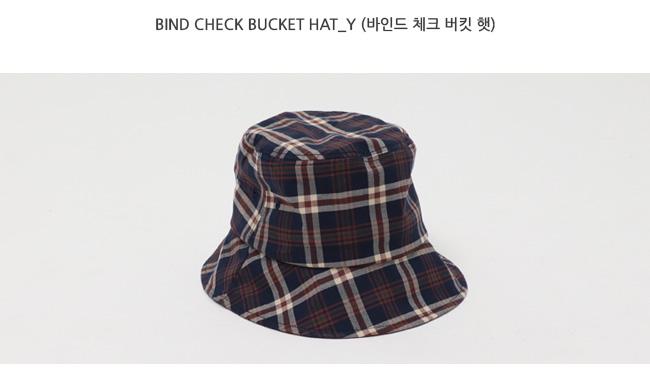 Bind check bucket hat_Y