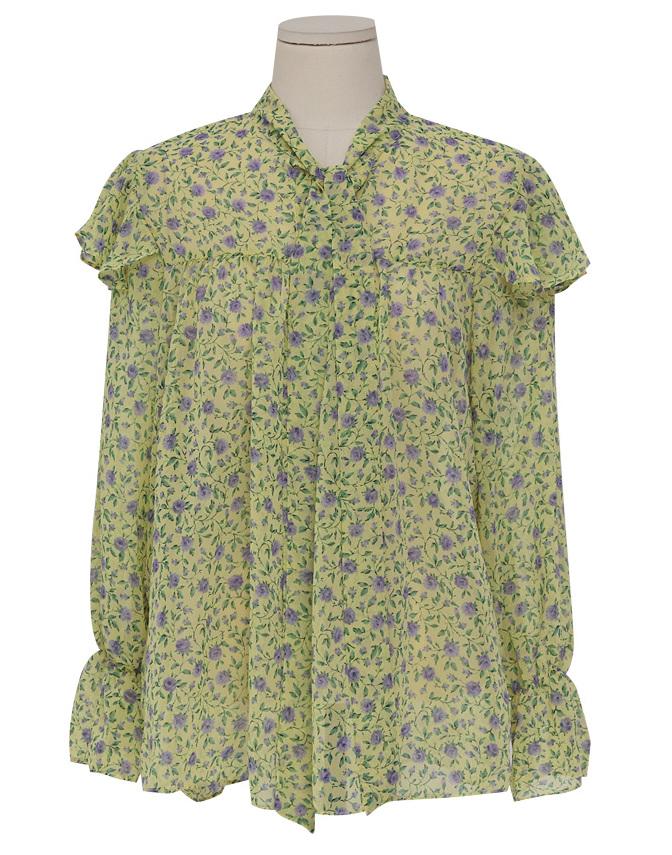 April flower pattern blouse_M