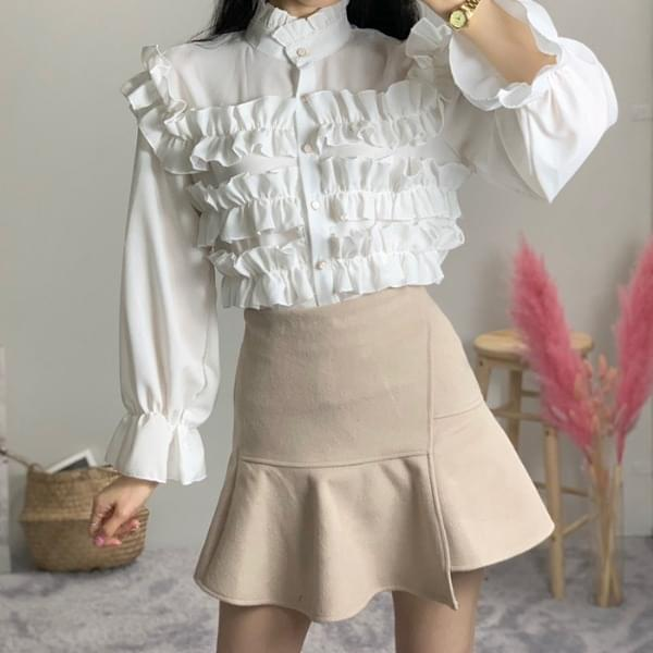 Mombi lace shearing blouse