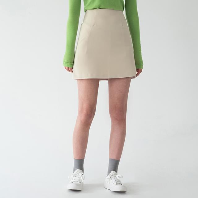semi a-line mini skirt