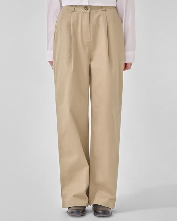 baguette wide cotton pants (s, m)