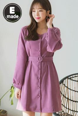 Square darling belt dress
