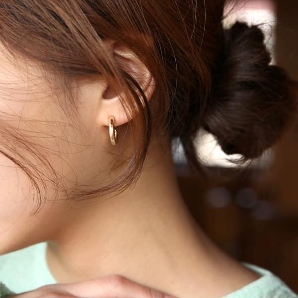 Double set gold earrings
