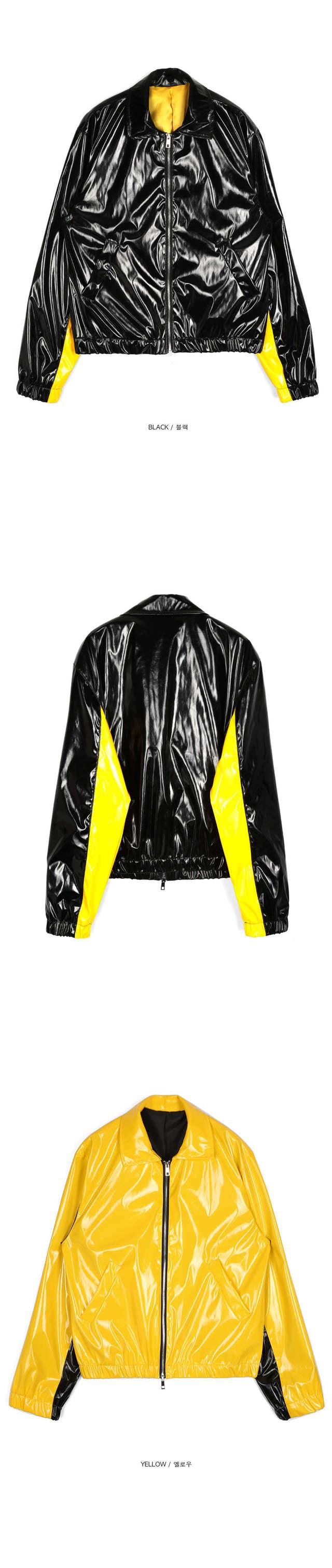 SALE pointed line enamel jacket - UNISEX