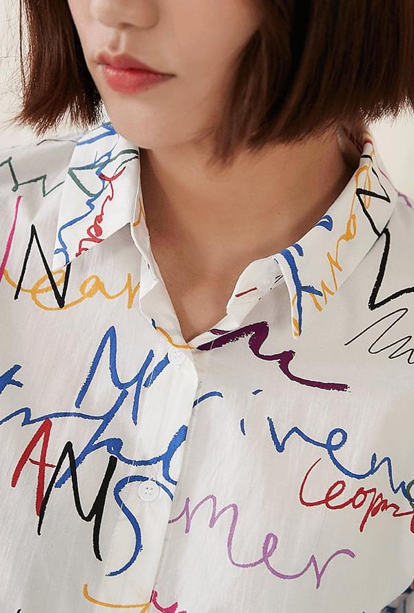 Uni-lettering shirt