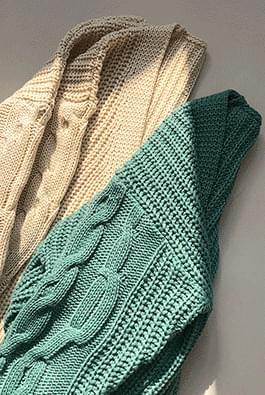 Knit shawl twist cardigan