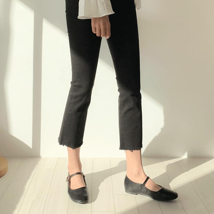 Mary Jane Leather Flat