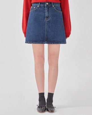 just denim mini skirt