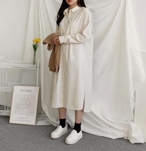 Casual Long Shirt Dress