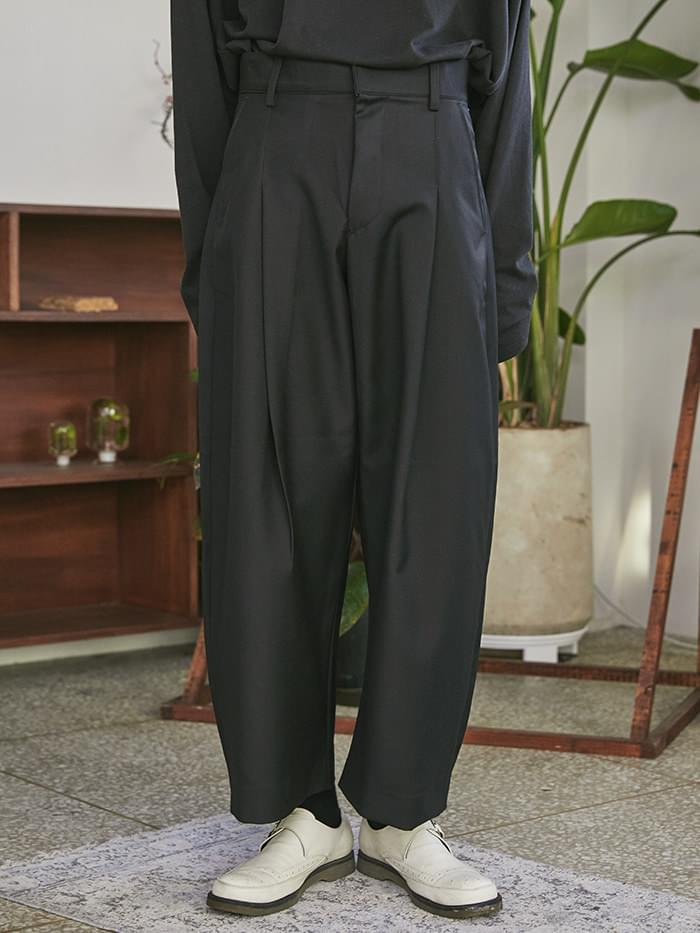 wide pintuck slacks - UNISEX