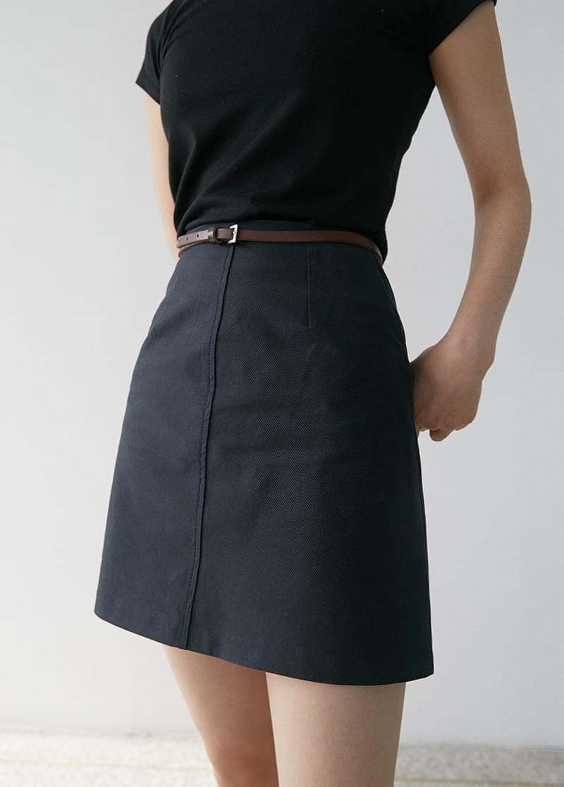 Twill miniskirt