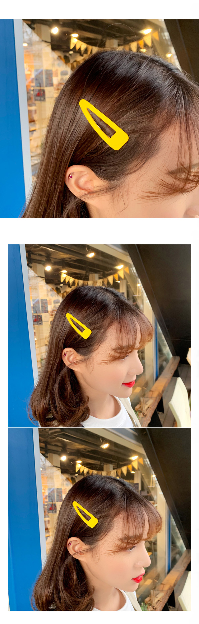 Triangular rainbow hairpin