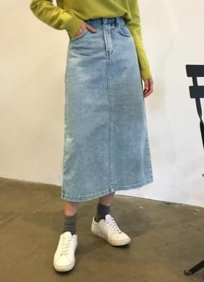 Earth denim skirt