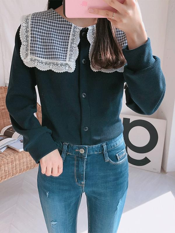 Candy check cardigan