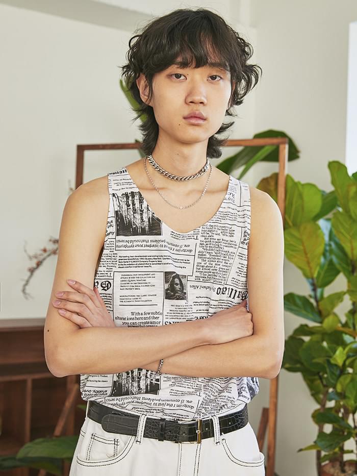 newspaper sleeveless - UNISEX