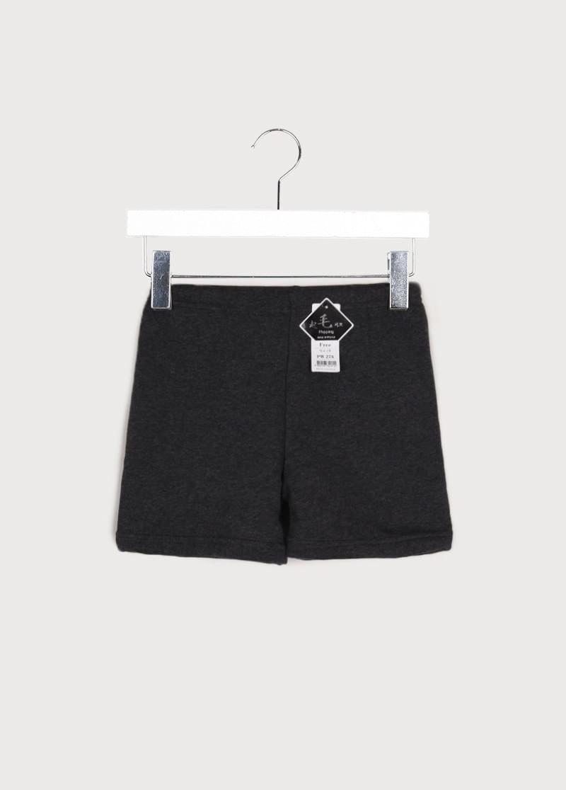 Fur brushed shorts