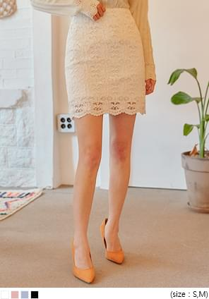 TAMY LACE H LINE MINI SKIRT