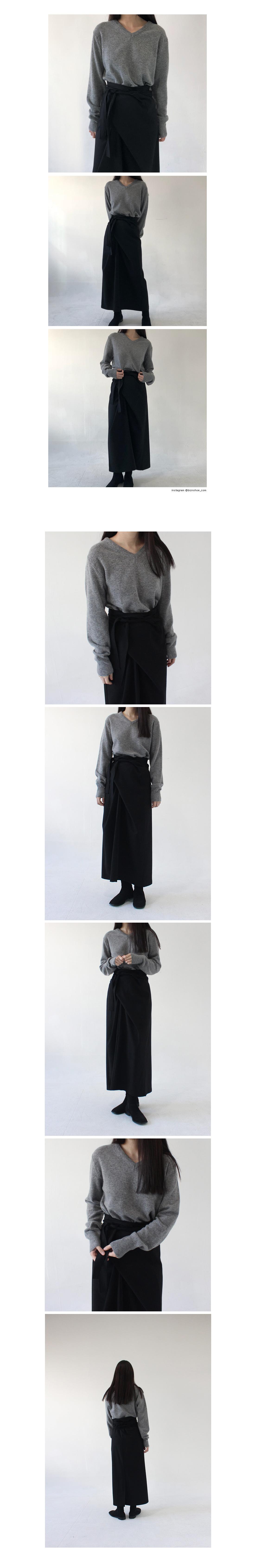 Twist wrap skirt