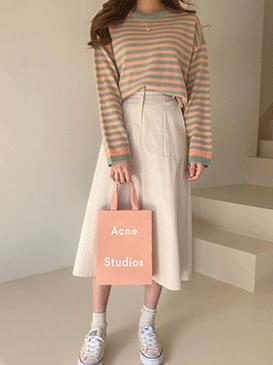 Pastel Morning stripe knit
