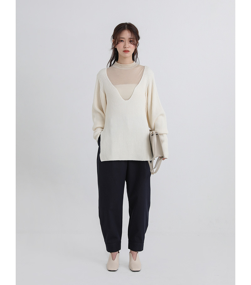 cos wide neck knit