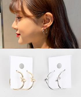 Knot Hoop Earrings