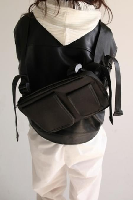 double pocket two way bag