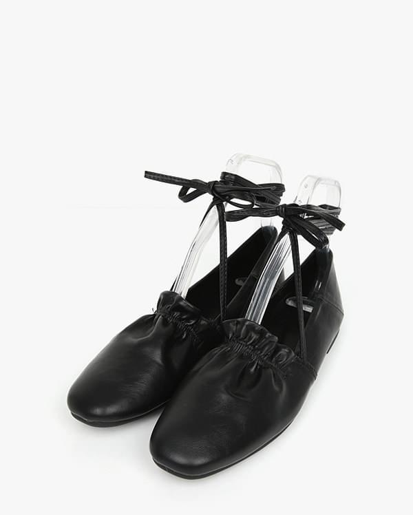 peach strap flat shoes