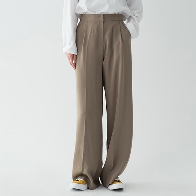 3 color pintuck wide slacks