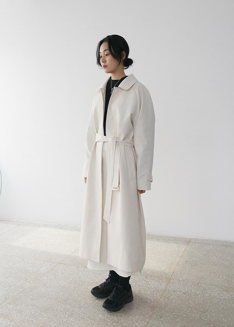 Single trench coat