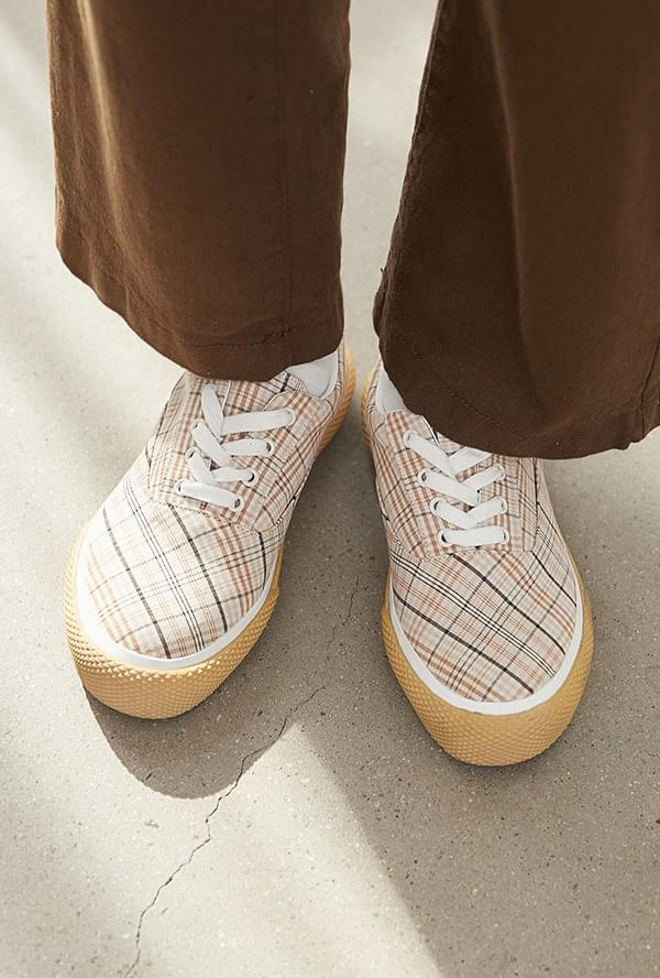 Marie M Check Sneakers